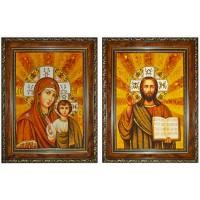 Венчальная пара Казанская икона Божией Матери и Господь Вседержитель