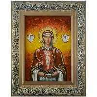 Албазинская икона Богородицы из янтаря