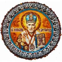 Образ на тарелке Святого Николая Чудотворца