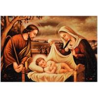 Святое семейство - янтарная икона
