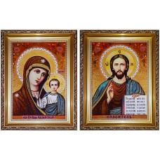 Венчальная пара Иисус Христос и Казанская Божья Матерь