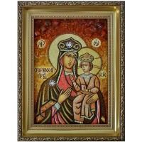 Озерянская Богородица - икона из янтаря
